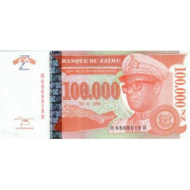 Zaire 100.000 Zaires 1996 P-77