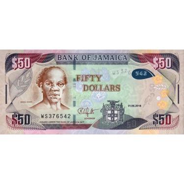 Jamaica 50 Dollars 2018 P-94d