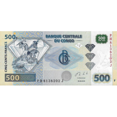 Congo 500 Francs 2013 P-96b