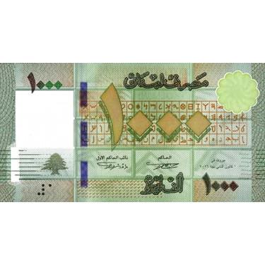 Lebanon 1000 Livres 2016...