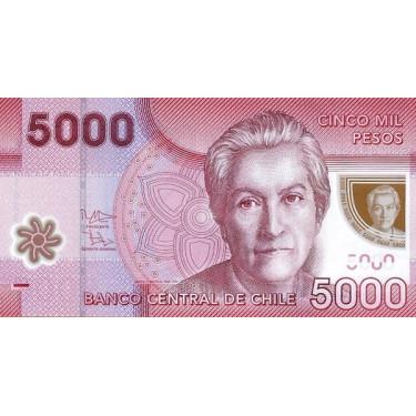 Chile 5000 Pesos 2013 P-163d