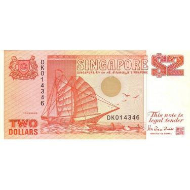 Singapore 2 Dollars 1990 P-27