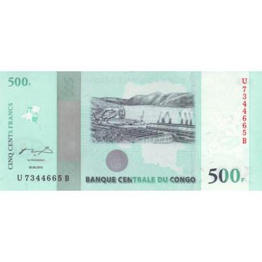 Congo 500 Francs 2010 P-100