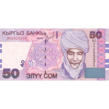 Kyrgysztan 50 Som 2002 P-20
