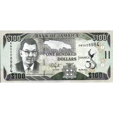 Jamaica 100 Dollars 2012 P-90