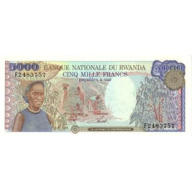 Rwanda 5000 Francs 1988 P-22