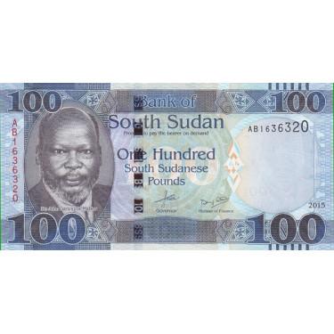 Sydsudan 100 Pounds 2015 P-15a