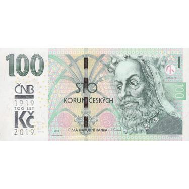 Tjeckien 100 Korun 2019 P-new