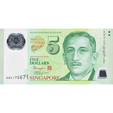 Singapore 5 Dollars 2020 P-47g