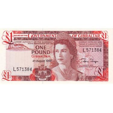 Gibraltar 1 Pound 1988 P-20e