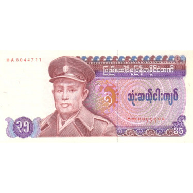 Burma 35 Kyats ND 1986 P-63