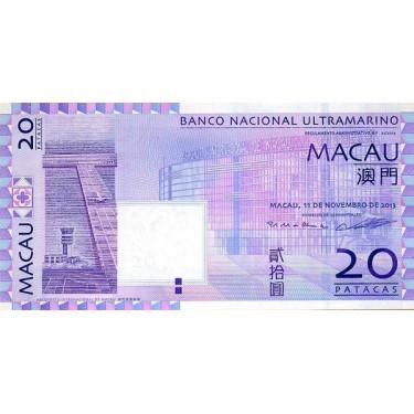 Macau 20 Patacas 2013 P-81c2