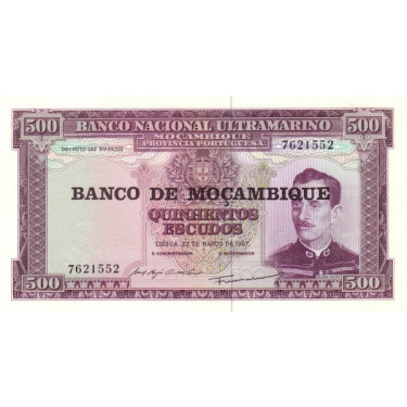 Mozambique 500 Escudos 1967...