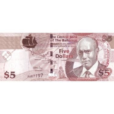 Bahamas 5 Dollars 2007 P-72