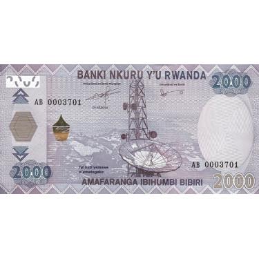 Rwanda 2000 Francs 2014 P-40