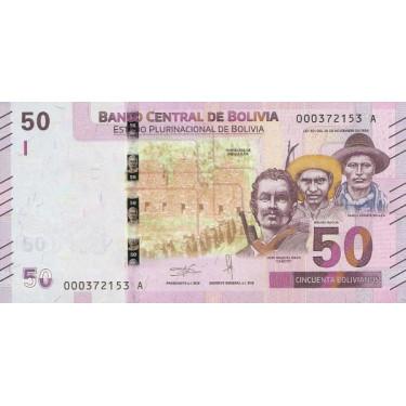 Bolivia 50 Bolivianos 2019...