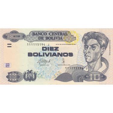 Bolivia 10 Bolivianos 1986...