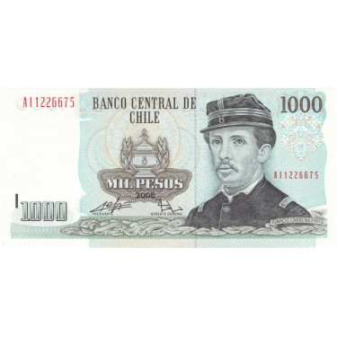 Chile 1000 Pesos 2008-2009...