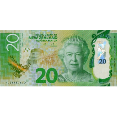 New Zealand 20 Dollars 2015...