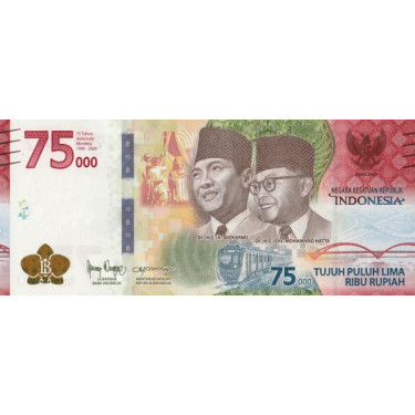 Indonesia 75 000 Rupiah...