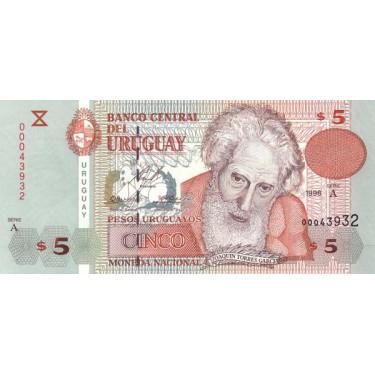 Uruguay 5 Pesos 1998 P-80