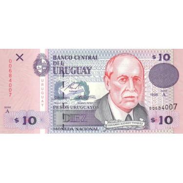 Uruguay 10 Pesos 1998 P-81