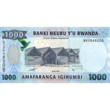 Rwanda 1000 Francs 2015 P-39