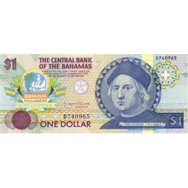 Bahamas 1 Dollar 1992 P-50
