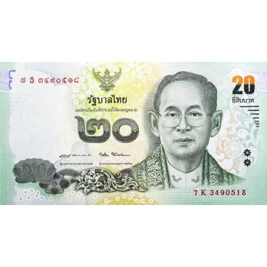 Thailand 20 Baht 2017 P-130
