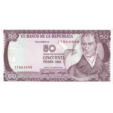 Colombia 50 Pesos 1986 P-425b