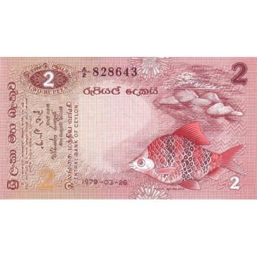 Ceylon Sri Lanka 2 Rupees...