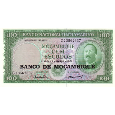 Mozambique 100 Escudos 1961...