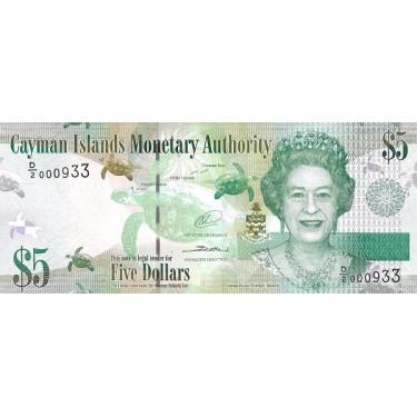 Caymanöarna 5 Dollars 2014...
