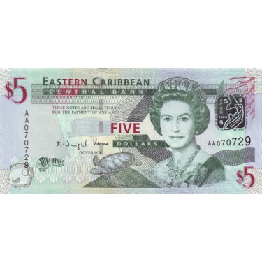 Eastern Caribbean 5 Dollars...