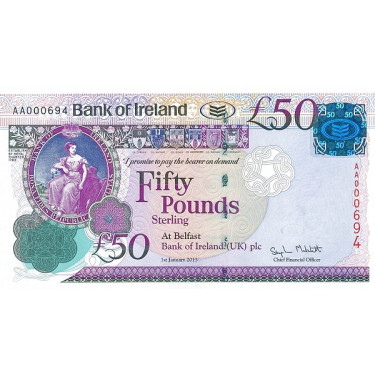 Nordirland 50 Pounds Bank...