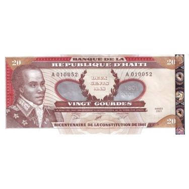Haiti 20 Gourdes 2001P-271Aa