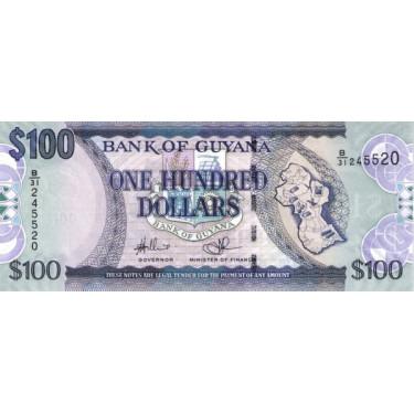 Guyana 100 Dollars 2012 P-36b2