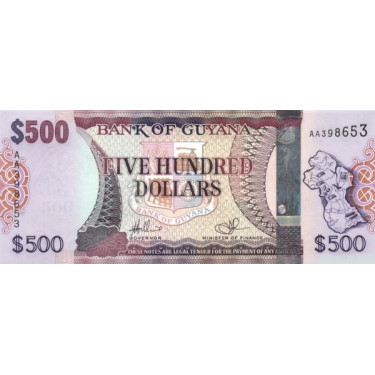 Guyana 500 Dollars ND 2011...