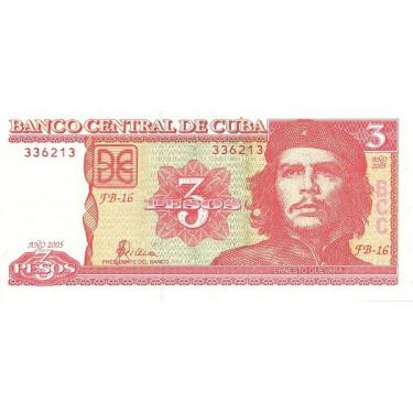 Cuba 3 Pesos 2005 P-127b
