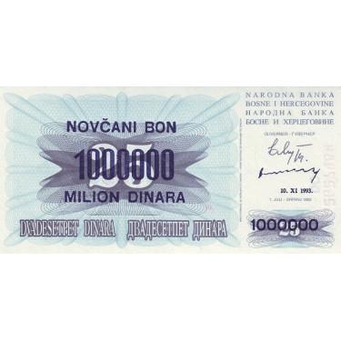 Bosnia 1 million Dinara...
