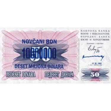 Bosnien 10 million Dinara...