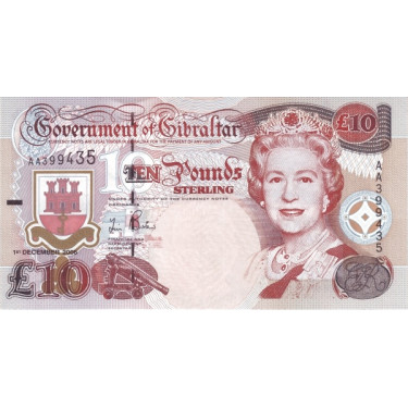Gibraltar 10 Pounds 2006 P-32