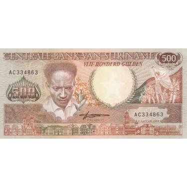 Surinam 500 Gulden 1988 P-135b