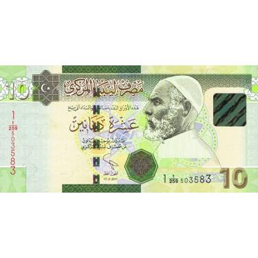 Libyen 10 Dinars 2011...