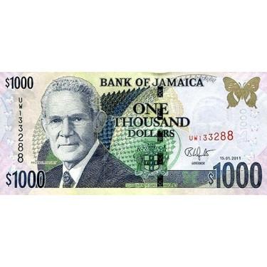 Jamaica 1000 Dollars 2011...