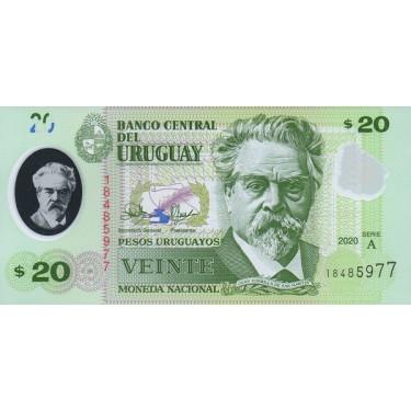 Uruguay 20 Pesos 2020 P-new
