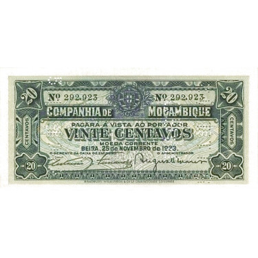 Mozambique 20 Centavos 1933...
