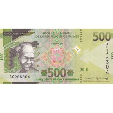 Guinea 500 Francs 2018 P-new