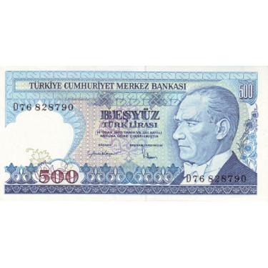 Turkey 500 Lira 1970 P-195