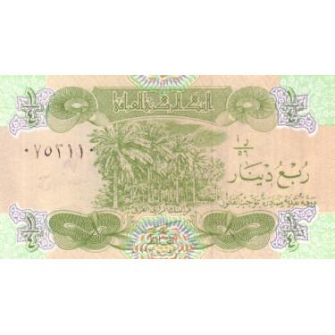 Iraq 1/4 Dinar 1993 P-77